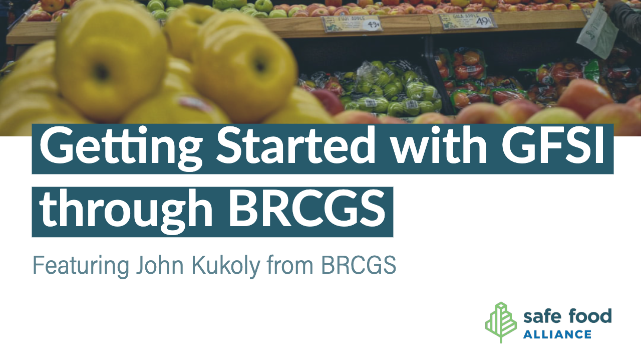Getting Started with GFSI through BRCGS